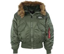45 P Hooded Herren Winterjacke grün