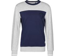 Rhodes Crew Sweater grau meliert blau