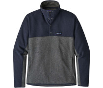 Lw Better weater Marupial Herren Fleecepullover grau blau meliert