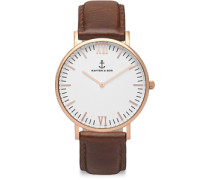 Campina Uhr brown leather