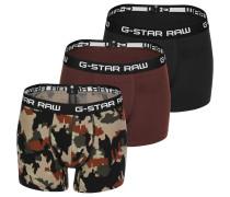 Claic Trunk 3 Pack Ao Boxerhort Herren chwarz braun rot