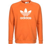 Trefoil Crew Sweater orange
