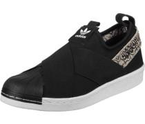 Superstar Slip On W Schuhe schwarz weiß beige
