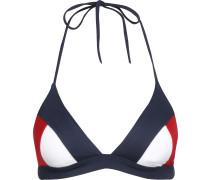 Tommy Hifiger Archive Cub Triange Bikini Obertei Damen bau