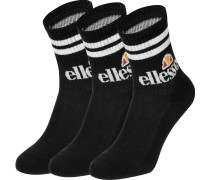 Pullo 3pk Socken schwarz