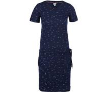 Printed W Kleider Kleid blau blau