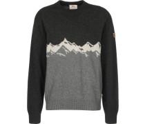 Greenland Re-Wool View Herren trickpulli dark grey