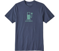 Live Simply Power Herren T-Shirt blau