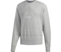 Rivalry Crew Herren Sweater grau meliert