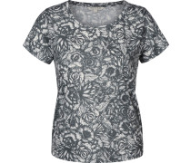Cropped Aop Damen T-Shirt flower field