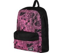 Realm Classic Damen Rucksack schwarz pink