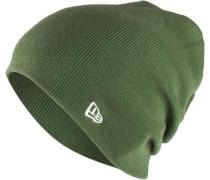 Essential Long Knit Beanie grün