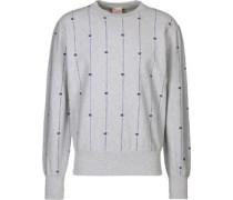 Stripe Logo Sweater Herren grau meliert EU