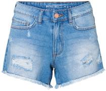NMBe Fran NW Raw Edge Damen Shorts blau