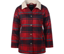 Plaid Team W Winterjacke rot kariert