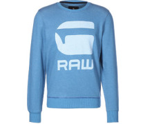Core Art r sw Sweater blau meliert