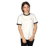 Taped Ringer W T-Shirt weiß schwarz