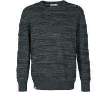 Knitted triped Crewneck Herren weater grau meliert