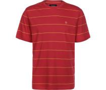 B-Shield Herren T-Shirt rot gestreift