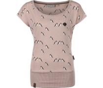 Wolle Doofmann Iv W T-Shirt dusty pink melange