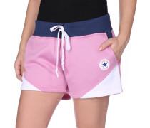 Blocked Shorts Damen pink blau weiß