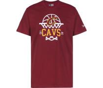 NBA League Net Logo Cleveland Cavalier Herren T-hirt rot