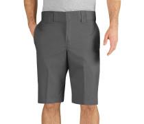 13 inch Slim Straight Work Herren Shorts grau