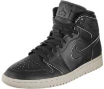 1 Retro High Premium Schuhe schwarz