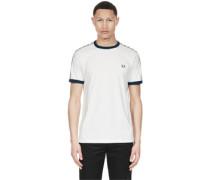 Taped Ringer T-Shirt weiß