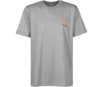 Burning C T-Shirt Herren grau EU