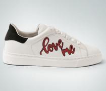 Schuhe Sneaker mit Glitter-Schrift