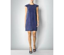 Kleid in Velours-Optik