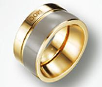 Schmuck Ring aus goldplattiertem Silber