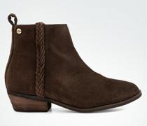 Schuhe Stiefelette mit zierendem Lederriemen
