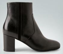 Schuhe Stiefeletten mit Velourslederstreifen