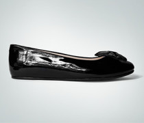 Schuhe Ballerinas mit Schleife im Crushed-Look