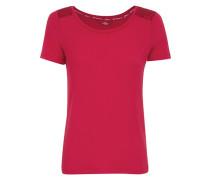 T-Shirt mit Spitzenpasse