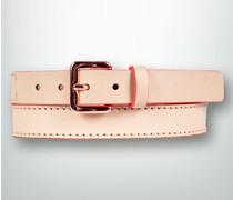 Gürtel Ledergürtel mit Akzenten in Neon