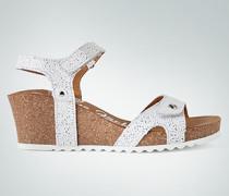 Schuhe Keilsandalen mit Rosen-Cut-Out