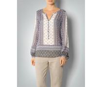 Bluse mit Mosaik-Muster