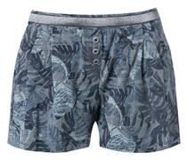 Nachtwäsche Schlaf-Shorts mit Bundfalten