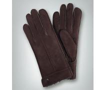 Handschuhe Lammfell, dunkel