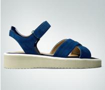 Schuhe Sandalen aus Veloursleder