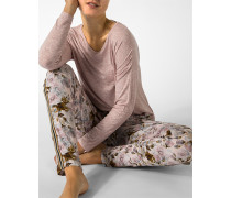 Schlafhose mit charmantem Rosenprint