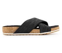 Schuhe Pantoletten in Flechtoptik