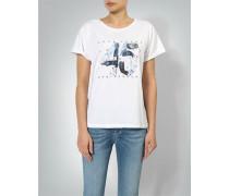 Shirt mit Denim-Print