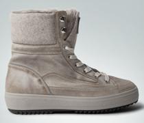 Schuhe Stiefelette mit Lammfellfutter