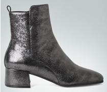 Schuhe Stiefelette in glänzender Präge-Optik