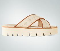 Schuhe Sandalen mit Logo-Dessin