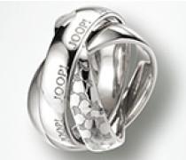 Schmuck Ring mit drei verschlungenen Elementen